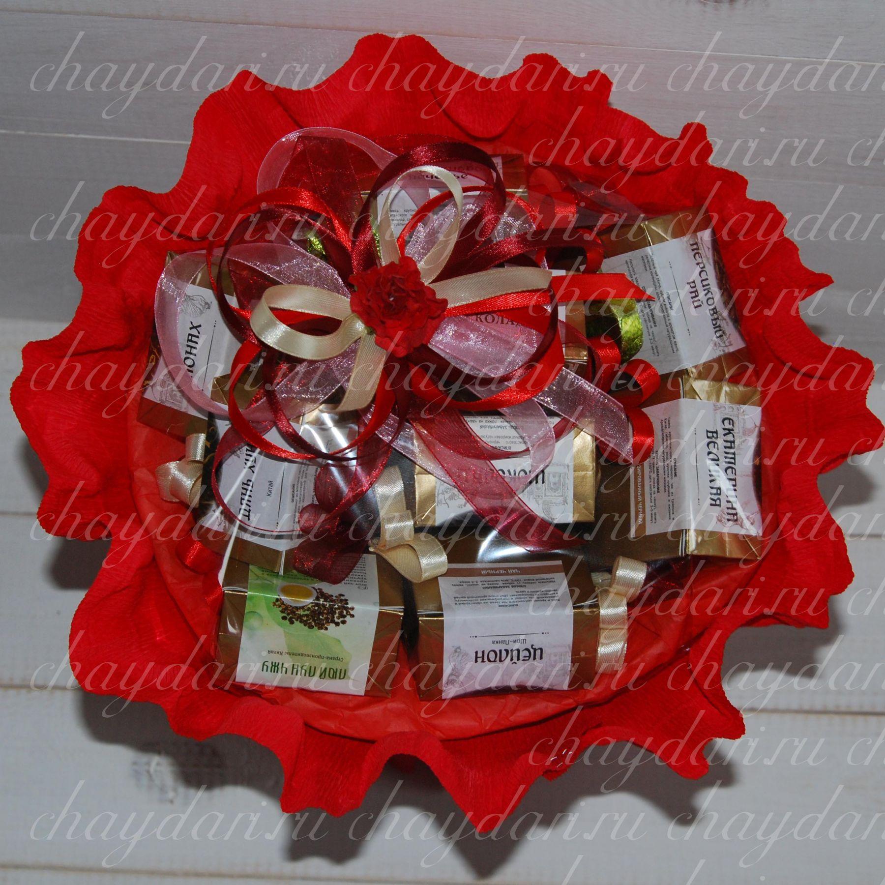 Букет из конфет в кружке Новогодняя композиция. Мастер 2